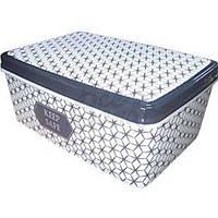 Коробка для вещей с крышк 5,5л прямоуг № 3 200/280/120мм Ромбы ELIF