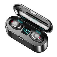 Беспроводные наушники F9 LED  TWS  водонепроницаемые  с боксом Bluetooth