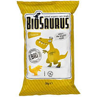 Снеки кукурузные органические без глютена с сыром «Biosaurus», 50г