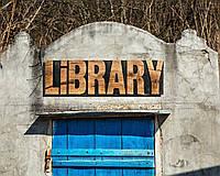 Настенный декор деревянная ретро вывеска «Library» Art Republic