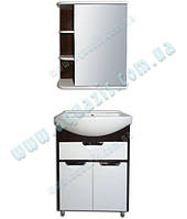 """Мини-Комплект мебели для ванной """"Консул Т-6 Рино-П Венге"""" 55 см"""