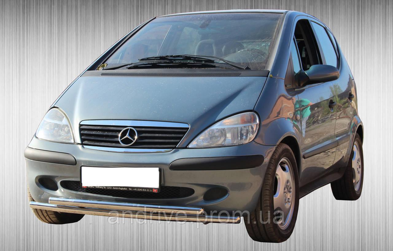 Защита переднего бампера (ус двойной) Mercedes A-Klasse (W168) 1997-2004