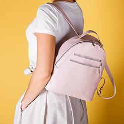 Рюкзак кожаный розовый , под заказ в любом цвете.