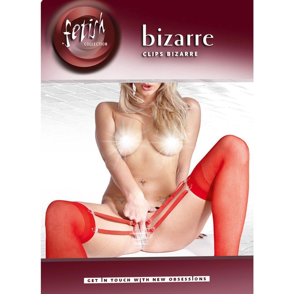 Эротические чулки с зажимами для половых губ Fetish Collection Bizarre Clips от Orion