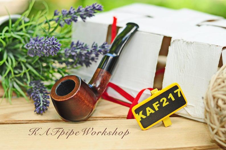Курительная трубка KAF217 Pot из дерева груши с мундштуком под фильтр 9 мм