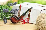 Курительная трубка KAF217 Pot из дерева груши с мундштуком под фильтр 9 мм, фото 2