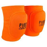 Наколенник волейбольный Fire&Ice, полиэстер, эластан, р-р S-L, оранжевый (FR-071)