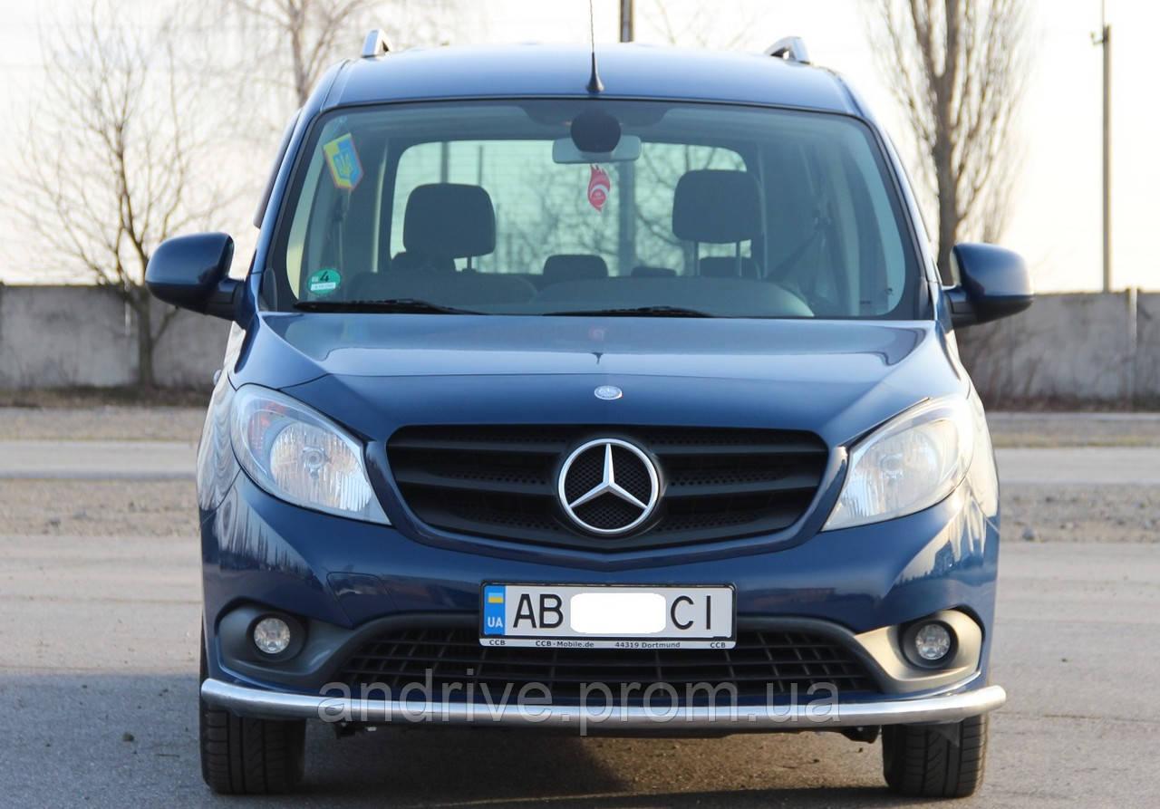 Защита переднего бампера (ус одинарный) Mercedes Citan (W415) 2012+