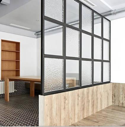 Перегородки из алюминия  в стиле лофт  Стеклянные двери LOFT Распашные, раздвижные, стационарные системы, фото 2