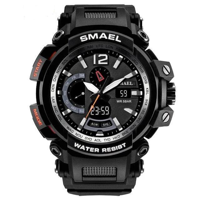 Smael 1702 черные мужские спортивные  часы