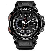 Smael 1702 черные мужские спортивные  часы, фото 1