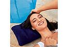 Надувная велюровая подушка Intex 68672 синяя, фото 2