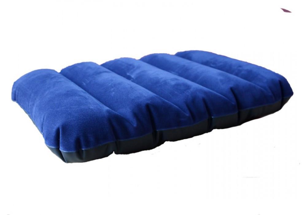 Надувная велюровая подушка Intex 68672 синяя