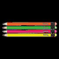 Карандаш чернографитовый круглый c ластиком, Colorino