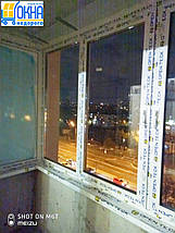 Остекление балкона  П-образной формы, фото 2