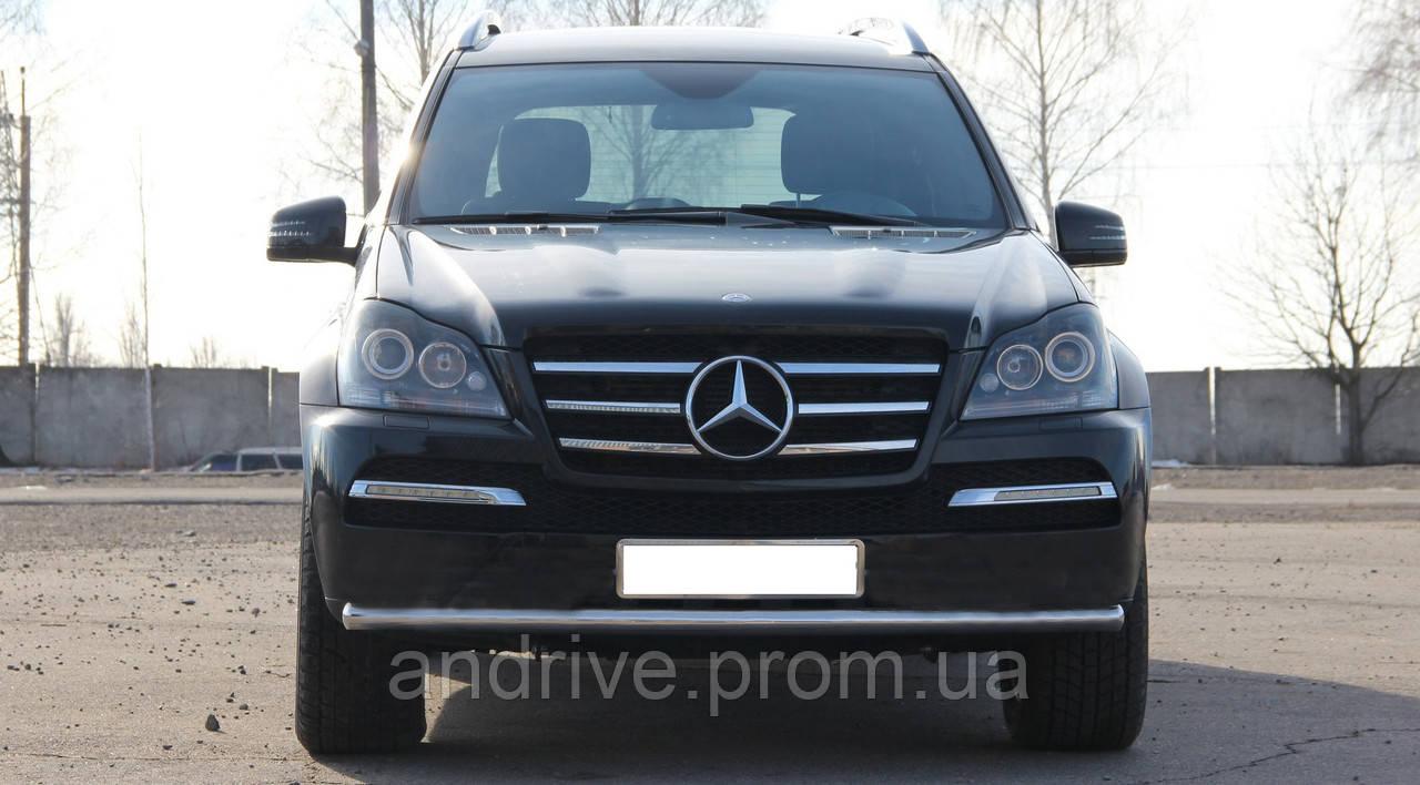 Защита переднего бампера (ус одинарный) Mercedes GL-Klasse (X164) 2006-2012