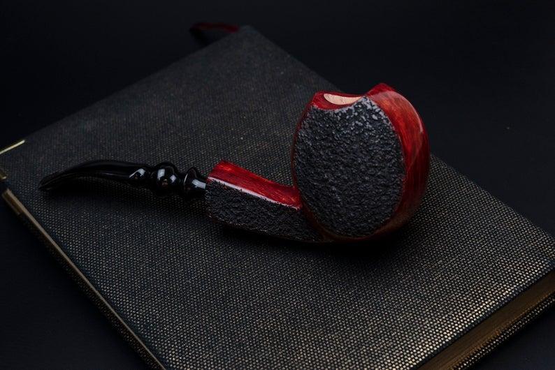 Курительная трубка ручной работы Freehand из бриара высокого качества с мундштуком из акрила