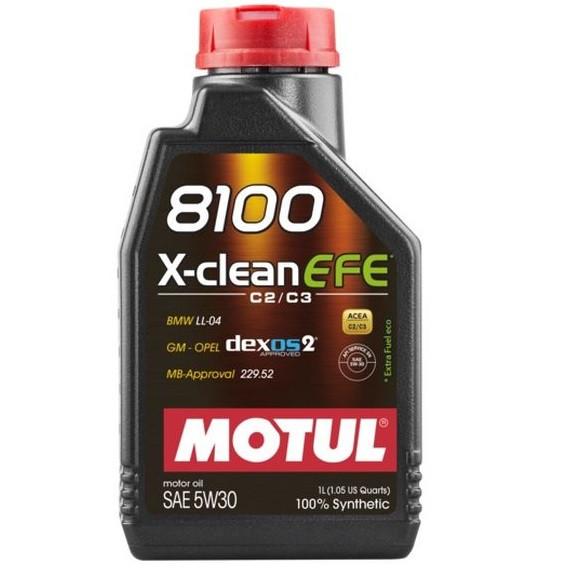 Масло моторное 100% синтетическое д/авто MOTUL 8100 X-clean EFE SAE 5W30 1л. 109470/814001