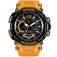 Smael 1702 оранжевые мужские спортивные  часы