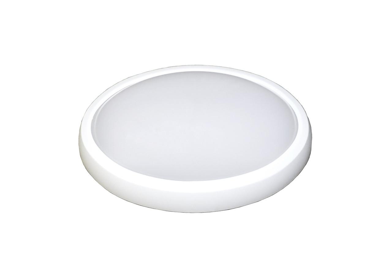 Светодиодный светильник ЖКХ накладной влагозащищённый ELCOR 713011 овал 8Вт (180x180) 4200K 600Лм IP54