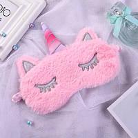 Удобная мягкая маска для сна—повязка на глаза милая ''Rose Unicorn'' (розовый)