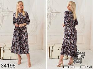 Элегантное платье с цветочным принтом Размеры: S,M,L,XL