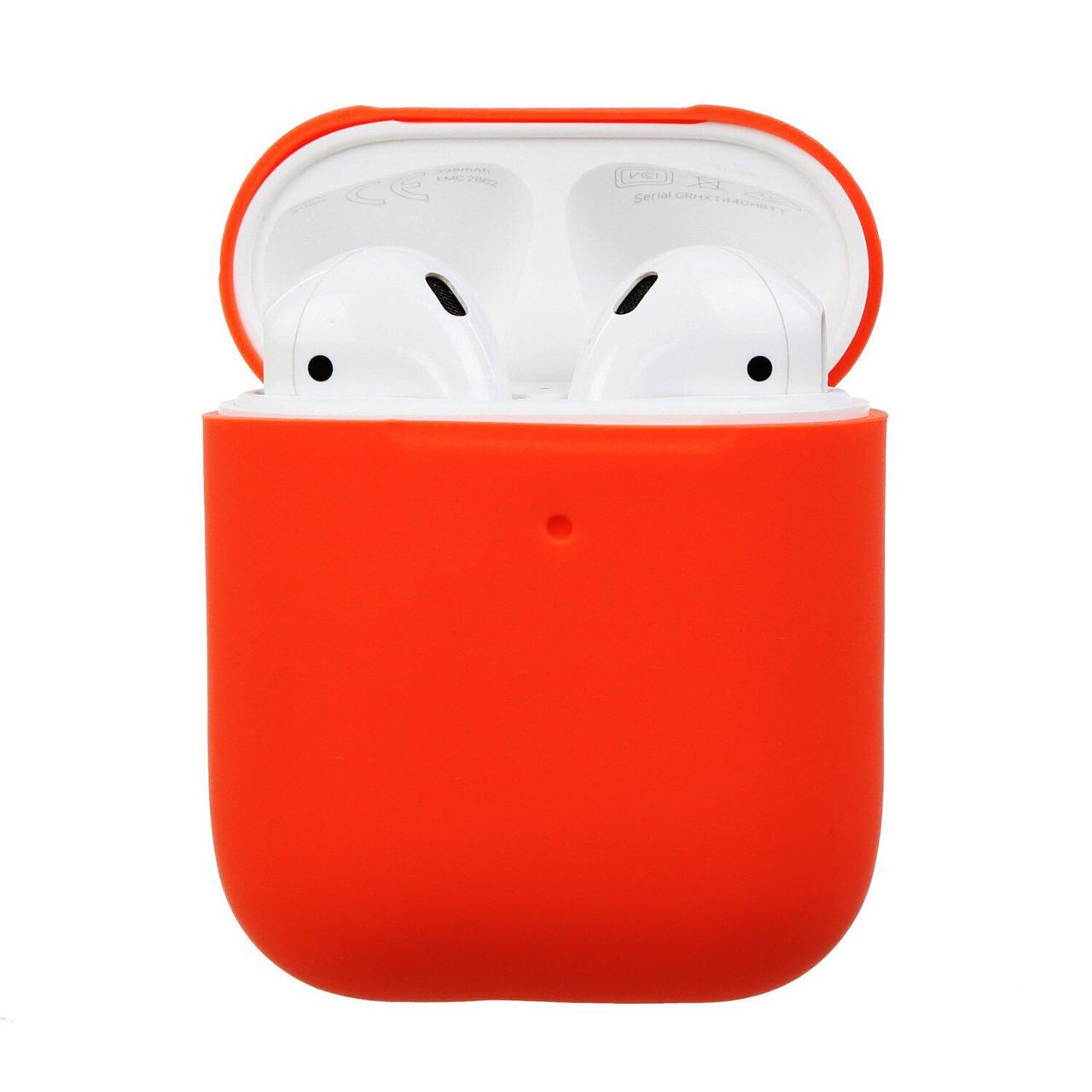 Силиконовый чехол Ultra Slim (Nectarine) для наушников Airpods/Аналогов