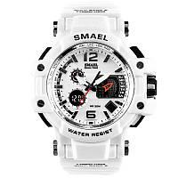 Smael 1509 белые мужские спортивные  часы, фото 1
