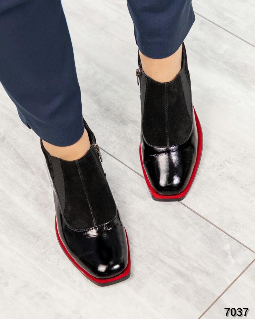 Туфли закрытые женскиие черные