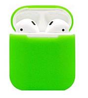 Силиконовый чехол Ultra Slim (Green) для наушников Airpods/Аналогов