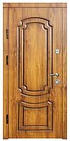"""Входные двери металлические, рис. """"Б"""" №7, Цвет Дуб тоскана, коричневая патина"""
