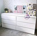 Широкий пристенный комод белого цвета, фото 3