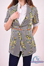 Комплект женский (цв.черный) рубашка+пиджак ELTI 5534 Размер:44,46