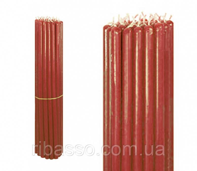 9060253 Свечи восковые пучек 1 кг. Красные №10