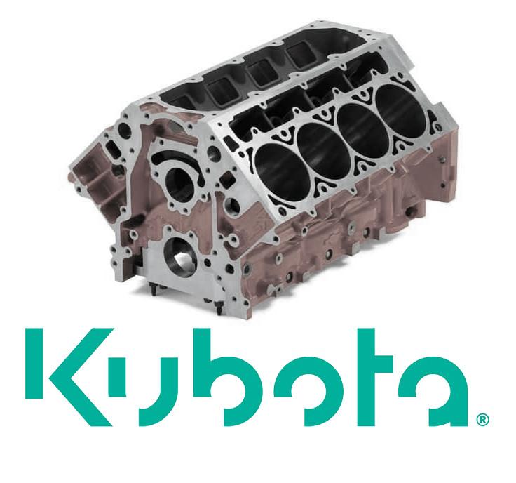 Блок цилиндров для спецтехники Kubota