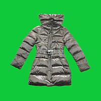Пальто девочка зима бронза