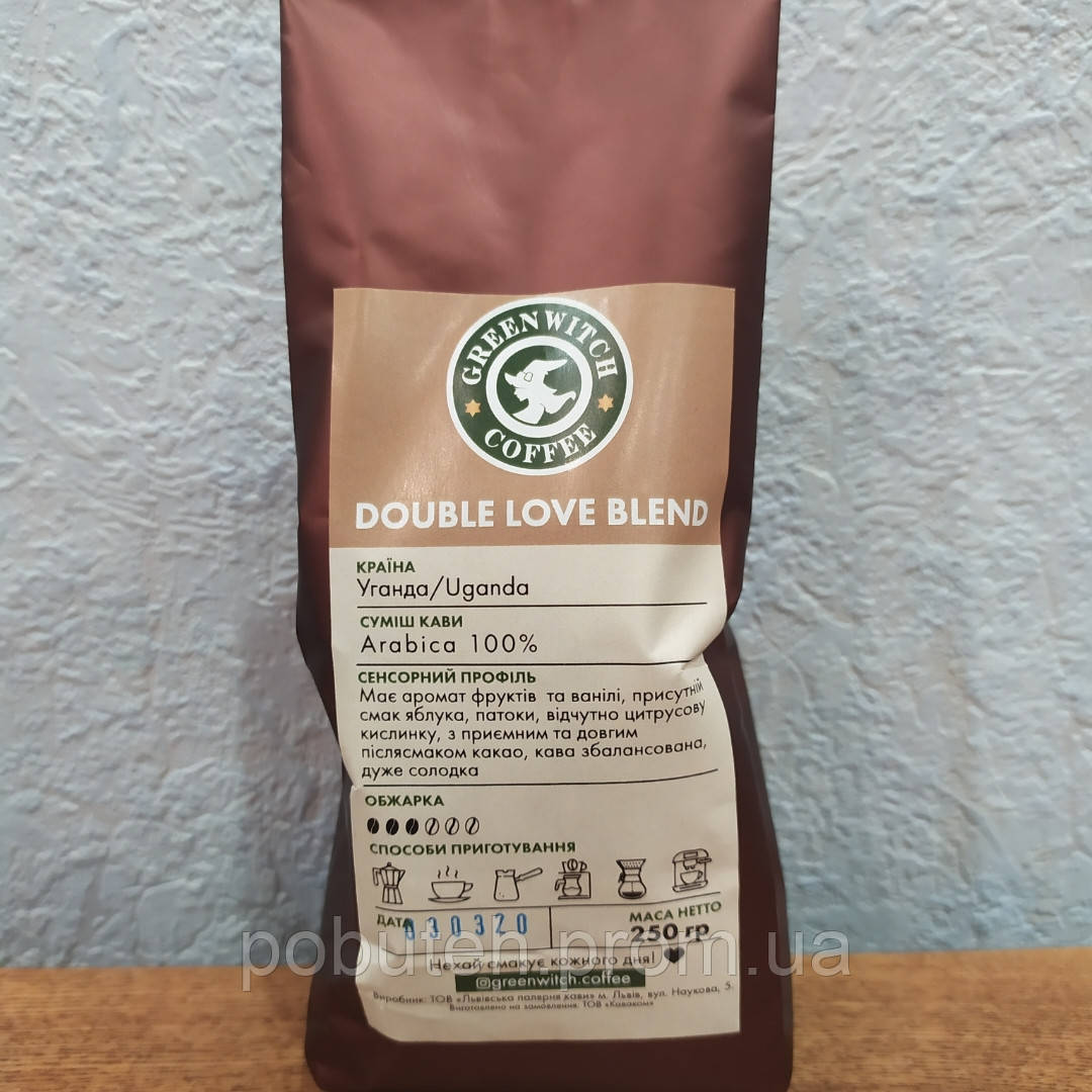 Кава в зернах Double love blend (arabica 100%)
