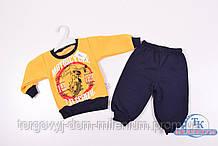 Костюм для мальчика трикотажный (цв.желтый) на флисе Motorcycle Рост:74
