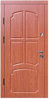"""Входные двери металлические, рис. """"Б"""" №233, Цвет Яблоня темная"""