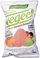 Безглютеновые органические картофельные чипсы с овощами Organique Vegee McLLOYD'S, 85 г