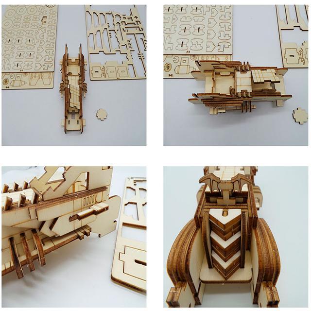 Деревянный конструктор машина Bat Mobile