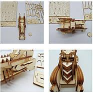 Деревянный конструктор машина Bat Mobile 3D пазл 171 элемент, фото 6