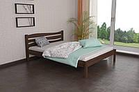 Двуспальная Кровать из дерева сосна 160*200 Посейдон MECANO цвет Темный орех 18MKR01