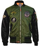 Бомбер Top Gun MA-1 Color Block Bomber Jacket TGJ1649 (Olive/Black), фото 1