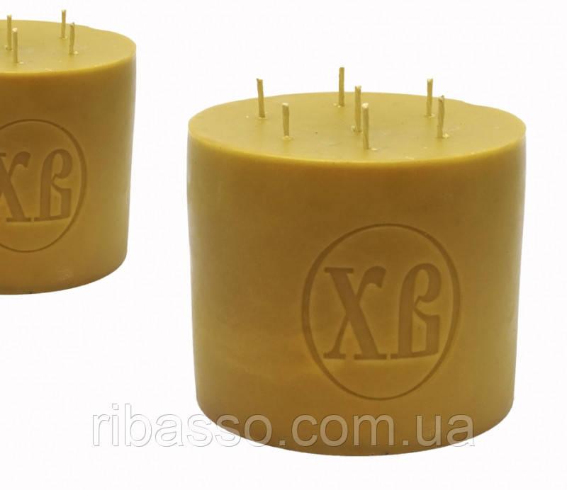9060251 Свеча восковая церковная ХВ 2 кг. Натуральный цвет