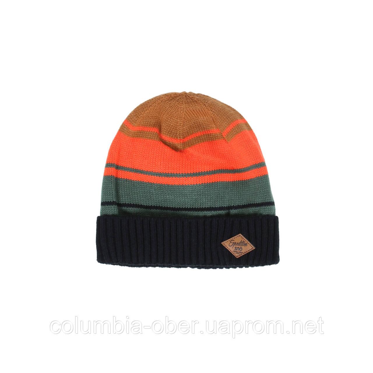 Зимняя шапка для мальчика SNO F18TU307 BLACK. Размер 54/56.