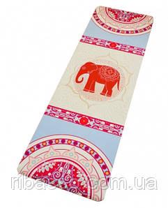 """9290210 Коврик для Йоги """"Слон на бежевом"""""""