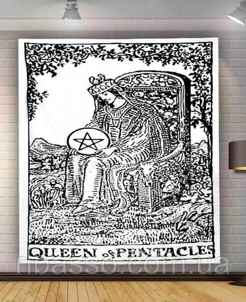 """9040444 Гобелен настенный """"Аркан Queen of Pentacles"""""""