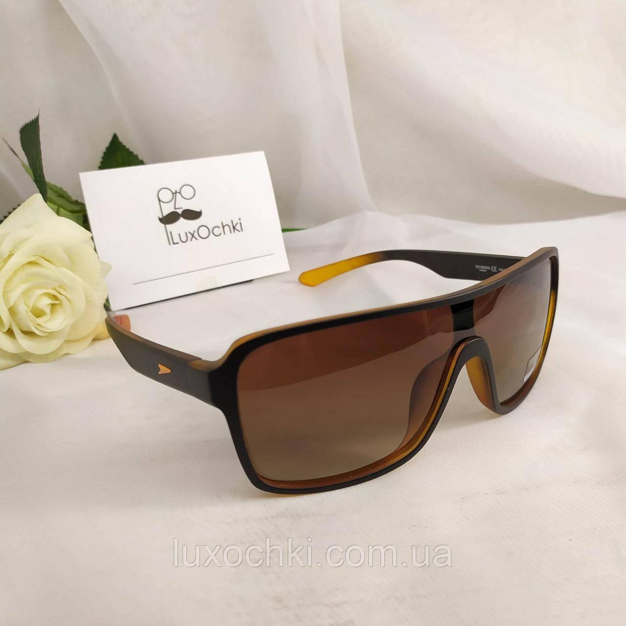 Стильные мужские солнцезащитные поляризованные очки маска Ted Browne