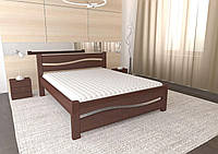 Двуспальная Кровать из натурального дерева сосна 120*200 Волна MECANO цвет Темный орех 5MKR01